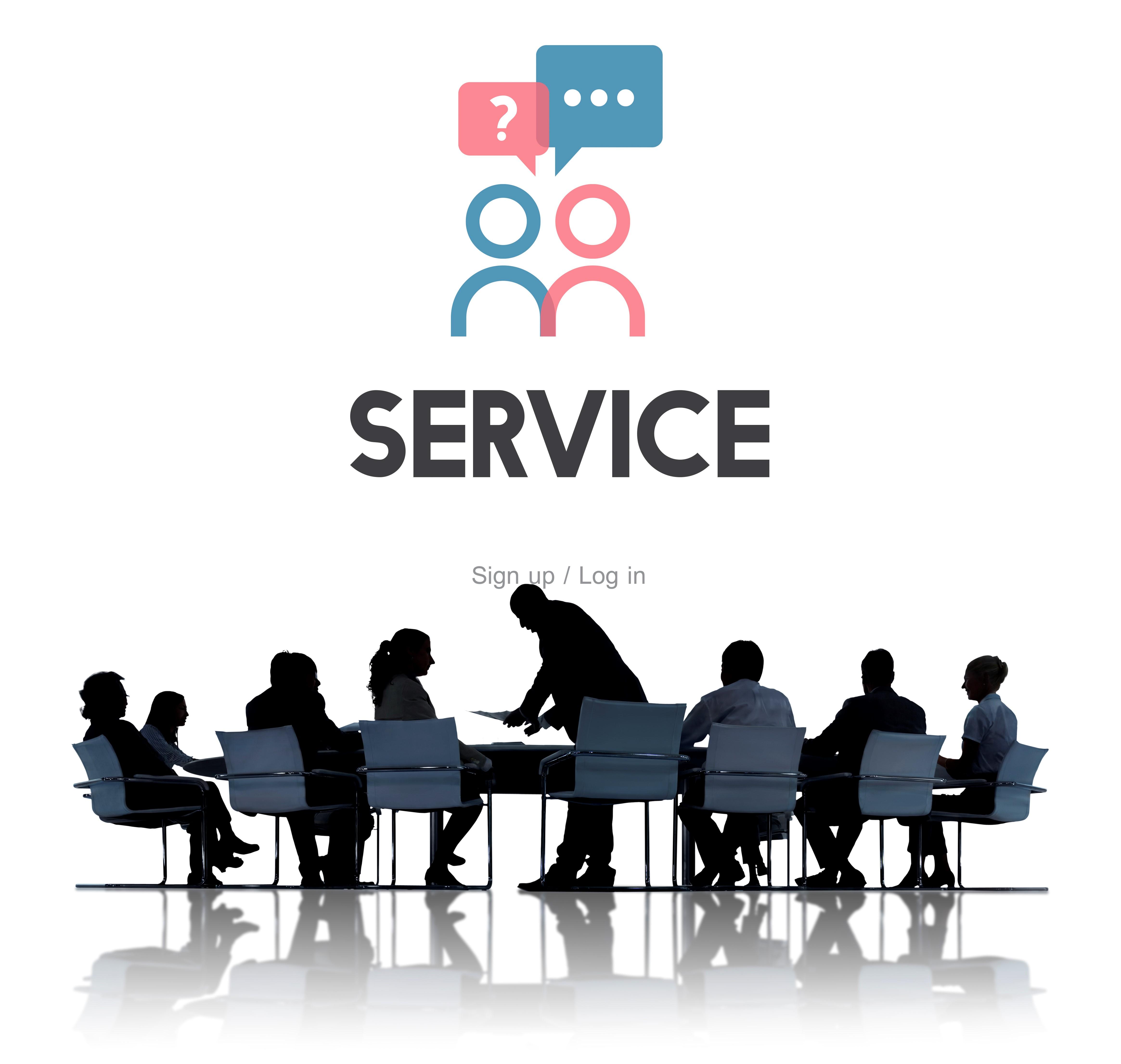 Service afdeling voor bedrijven
